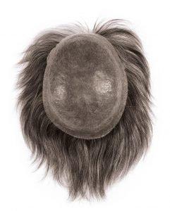 Protesi in capelli veri con calotta in poliuretano