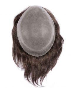 Protesi in capelli veri indiani con calotta in poliuretano